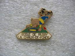 Pin's De L'ecole De Rugby De La Chaux-de-Fonds En SUISSE - Rugby