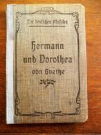 Oud BOEK    1940 Paris  HERMANN  Und  DOROTHEA  Von  JOB .  WOLFGANG  GOETHE   Duits - Livres, BD, Revues