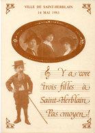 """SAINT HERBLAIN - Chanson Illustrée """"Les Filles De Saint Herblain""""  14 Mai 1983  (113254) - Saint Herblain"""