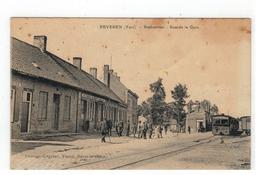 BEVEREN (Yser)  -  Statiestraat - Rue De La Gare (met Stoomtram) - Alveringem