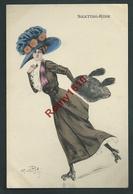 Naillod. Femme élégante, Patins à Roulettes. Skatting-Rink. Série 108/5 - 2 Scans. - Naillod