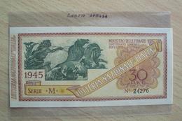 VECCHIO BIGLIETTO DELLA LOTTERIA NAZIONALE ITALIA DEL 1945 - Biglietti Della Lotteria