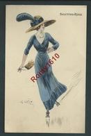 Naillod. Femme élégante, Patins à Roulettes. Skatting-Rink. Série 108/2 -   Mode, Chapeau.  2 Scans. - Naillod