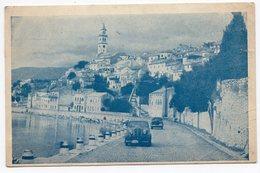 1953 YUGOSLAVIA, CROATIA, NOVI VINODOL, CHURCH AND PROMENADE - Croatia