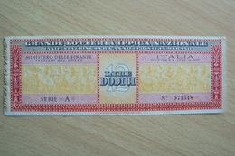 VECCHIO BIGLIETTO DELLA GRANDE LOTTERIA IPPICA NAZIONALE DI MERANO 1936 CAVALLI - Biglietti Della Lotteria