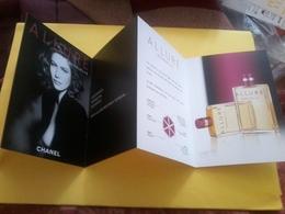 CARTE Chanel  Allure  Dépliant - Cartes Parfumées