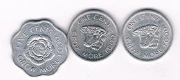 3 COINS SEYCHELLEN /3702/ - Seychelles