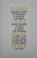 Ex-libris Illustré Français XXème - ODILE ANDRE HERRY - Ex-libris