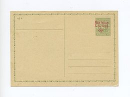 1938 Sudetenland Karlsbad Ungebrauchte Ganzsache P 5 50 H ( Urkarte P37 ) Mit Rotem Handstempel - Sudetenland