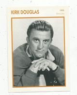 Photographie, Portrait De STARS, Cinéma ,acteur , Kirk DOUGLAS ,1955, Photo Koball, 2 Scans ,fiche Descriptive - Personalità