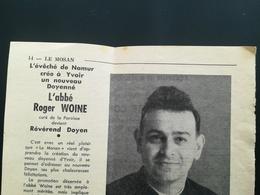 RÉVÉREND DOYEN DE YVOIR NAMUR WALLONIE BELGIQUE CÉRÉMONIE ÉGLISE LOT 5 PHOTOS + 2 VIEUX PAPIERS - Personnes Identifiées