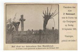 Temse Het Graf Der Gebroeders VAN RAEMDONCK, In Elkaars Armen Gesneuveld,te Steenstraete,den 26 Maart 1917 - Temse