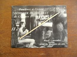 Uitnodiging  Film  Op 1953    Titel :          INTRUDER  IN THE  DUST  De CLARENCE  BROWN  1949 - Altre Collezioni