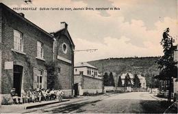 Profondeville Café De L'arrêt Du TRAM, Jaumain Drèze, Marchand De Bois Coin Inf Droit Plié - Profondeville