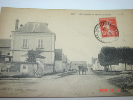 C.P.A.- Izy (45) - Mairie Et Ecole - Maison Pinault  - 1918 - SUP (BG72) - Other Municipalities