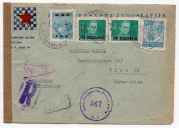 1950 YUGOSLAVIA, SERBIA, CENSORED ,YUGOSLAV CHESS ASSOCIATION, REGISTERED EXPRESS LETTER TO VIENA, AUSTRIAN CENSORSHIP - 1945-1992 Socialist Federal Republic Of Yugoslavia
