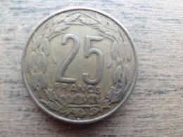 Central Africa  25  Francs  1975  Km 10 - República Centroafricana