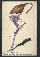 Naillod Ch. Superbe Série  Aquarellée. Charme Et Humoristiques. Femme-poisson. La Raie. Série 129. 2 Scans. - Naillod