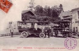 CPA De NANCY (Meurthe & Moselle) - Trianon - La Correspondance De L'Automobile Avec Les Tapissières. Edition Bergeret. - Nancy