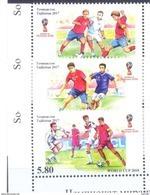 2017. Tajikistan, World Football Championship Russia'2018, 3v Perforated, Mint/** - Tadschikistan