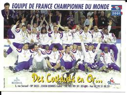 HANDBALL - EQUIPE DE FRANCE CHAMPIONNE DU MONDE 2001 - Handbal