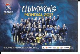 HANDBALL - EQUIPE DE FRANCE CHAMPIONNE DU MONDE 2017 - Handbal
