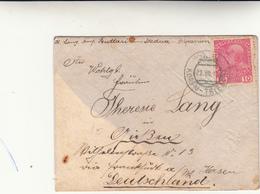 Scutari To Germany,cover Con 10 Heller. Consegnata Alla Nave E Annullata A Bordo Il 22 Luglio 1911 Linea Korfù -Trieste - Oriente Austriaco