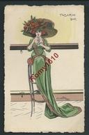 Ch. Naillod. Charme. Tabarin Bar. Femme à Chapeau, Mode.  Carte Aquarellée. N°1726.  2 Scans. - Naillod