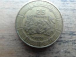 Central African 25  Francs  2006  Km 20 - Centrafricaine (République)