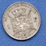 Belgique   - 1 Franc 1880    -  état   TB+ - 1865-1909: Leopold II
