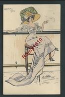 Ch. Naillod. Charme. Olympia Bar. Femme à Chapeau, Mode.  Carte Aquarellée. N°1724.  2 Scans. - Naillod