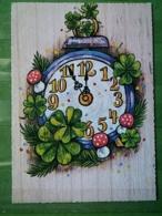 Kov 8-138 - New Year, Bonne Annee, Champignon, Mushroom - Nouvel An