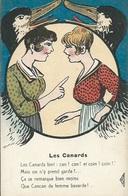 """CPA Théme-Illustrateur Signé """" GRIFF""""-Série """" AMOUR GRIVOIS """"N°: 276   Les Canards - Griff"""