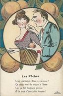 """CPA Théme-Illustrateur Signé """" GRIFF""""-Série """" AMOUR GRIVOIS """"N°: 276   Les Pêches - Griff"""