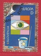 Slowenien / Slovenija  2003 Mi.Nr. 427 , EUROPA CEPT - Plakatkunst  - Gestempelt / Fine Used / (o) - 2003