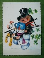 Kov 8-138 - New Year, Bonne Annee , Chimney Sweep, Ramoneur, Santa ,snowman, Bonhomme De Neige, Champignon, Mushroom - Anno Nuovo