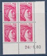 = Coin Daté Sabine De Gandon 24.1.79 N° 1978 X4 Neuf - 1970-1979