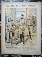 """1915,CAHIER D'ÉCOLE,""""PRODUITS """" KULTUR"""" ALLEMANDE """",MILITARISME PRUSSIEN ,CONRAD,CHARRIER,GUERRE PRUSSE,ARMÉE,SOLDATS - Blotters"""