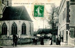 N°72397 -cpa Vatteville La Rue -rue De L'église- Café Anquetil- - Sonstige Gemeinden