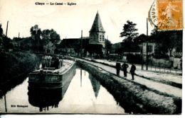 N°72400 -cpa Claye -le Canal- église- - Claye Souilly