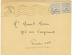 PAIRE DE 703 ARC DE TRIOMPHE SUR IMPRIME - 1921-1960: Periodo Moderno