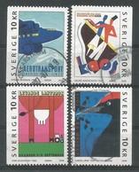 Schweden / Sverige  2003 Mi.Nr. 2339 / 2342 , EUROPA CEPT - Plakatkunst  - Gestempelt / Fine Used / (o) - Europa-CEPT