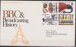 Grossbritannien 1972 MiNr.602 - 605 FDC Geschichte Des Britischen Rundfunks ( D 3028 )günstige Versandkosten - FDC