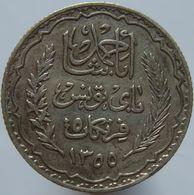 Tunisia 5 Francs 1936 XF - Silver - Tunisia