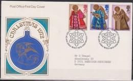 Grossbritannien 1972 MiNr.606 - 608 FDC Weihnachten ( D 3083 )günstige Versandkosten - FDC
