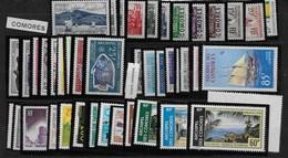 Comores : Base De Collection Timbres Neufs Sans Charnières (voir Détail Ci Après) - Comores (1950-1975)