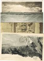O.MEC FLIER PARIS DISTRIBUTION 1 2 ( AVEC ET SANS LIGNE ) ET 6 EN ARRIVEE SUR 4 CPA - Marcophilie (Lettres)