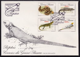 Guinea Bissau, 1993, Reptiles, FDC - Reptiles & Batraciens