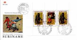 - FDC SURINAME 24.XI.1971 - KIND - Bloc AU PROFIT DE L'ENFANCE - Bruegel L'Ancien - - Kindertijd & Jeugd