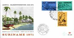 - FDC SURINAME 13.XII.1971 - ALBINA - MAROWYNERIVIER - 125e Anniversaire De La Fondation Albina - - Suriname ... - 1975